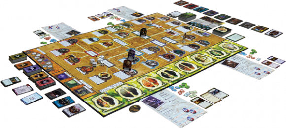 Arkham Horror game in play