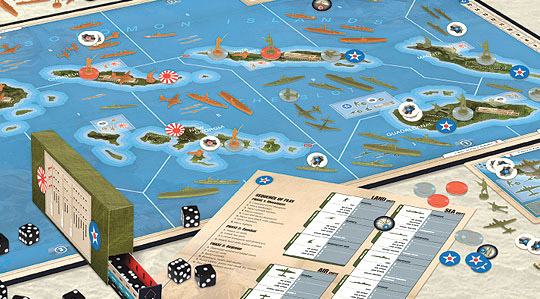 Axis & Allies: Guadalcanal game in play
