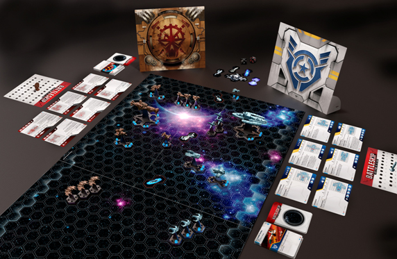 Battleship Galaxies gameboard