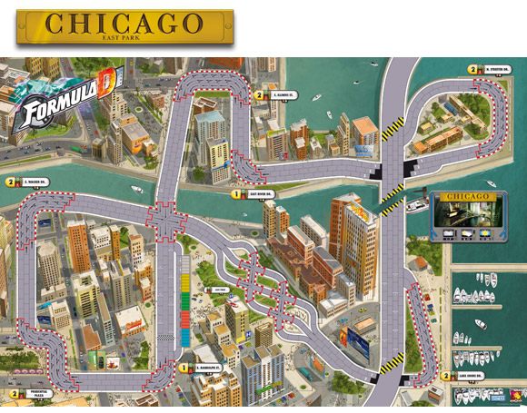 Formula D Chicago East Park map
