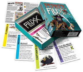 Pirate Fluxx box and contents