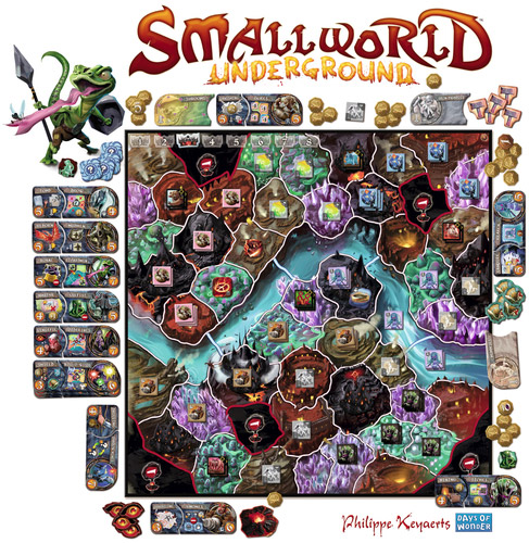Small World Underground game in play
