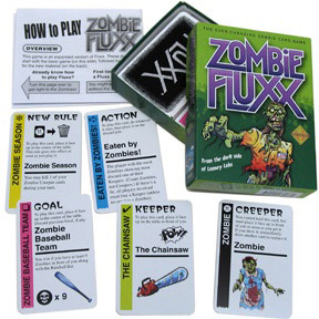 Zombie Fluxx box and contents