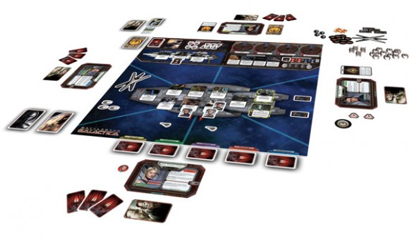 Battlestar Galactica game in play