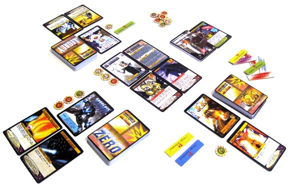 Sentinels of the Multiverse game in play