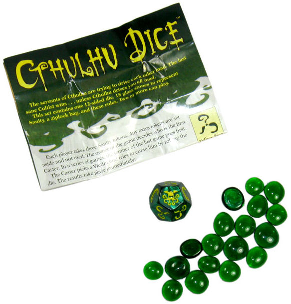 Cthulhu Dice Game Components