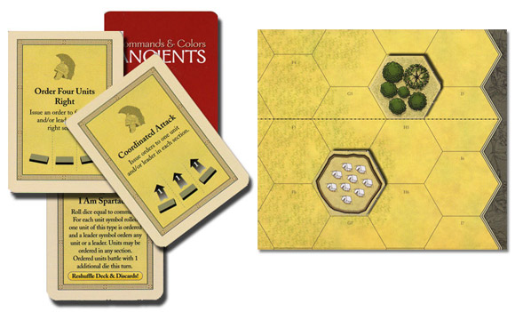 Command & Colors: Ancients cards and board sample