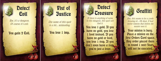 Dungeon Lords card samples