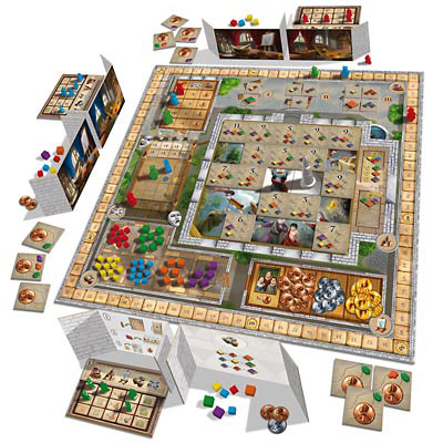 Fresco board game in play