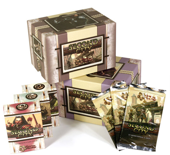 L5R Second City starter decks and boosters