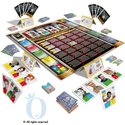 Show Manager board game in play