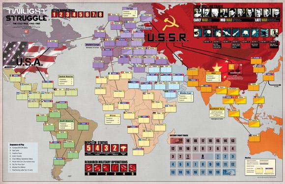 Twilight Struggle map