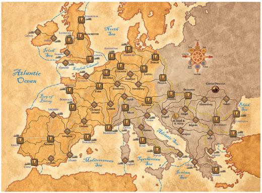 Fury of Dracula Map