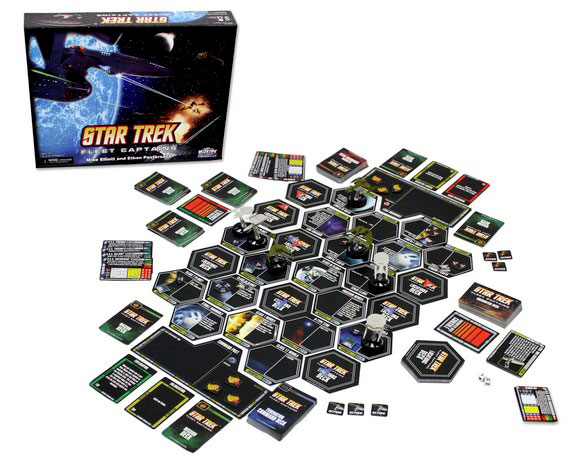 Star Trek: Fleet Captains board game in play