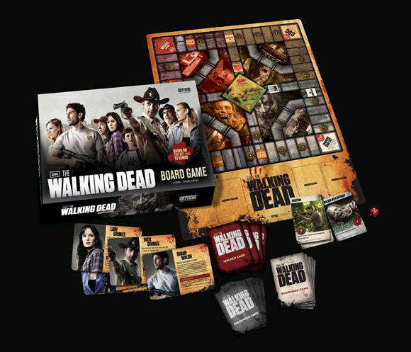 The Walking Dead Board Game components