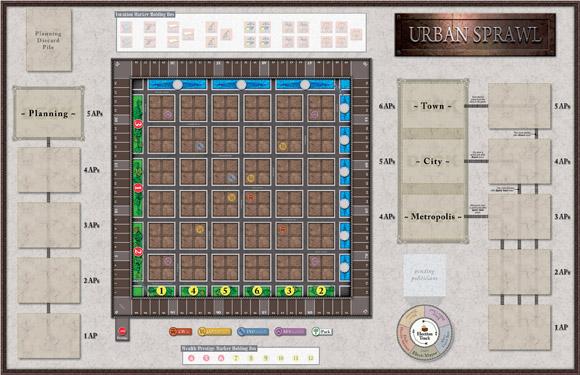 Urban Sprawl Game Board