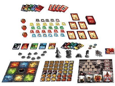 Ghost Stories: Black Secrets game components