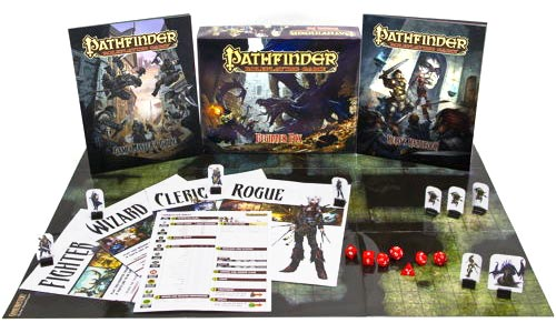 Pathfinder beginner box contents