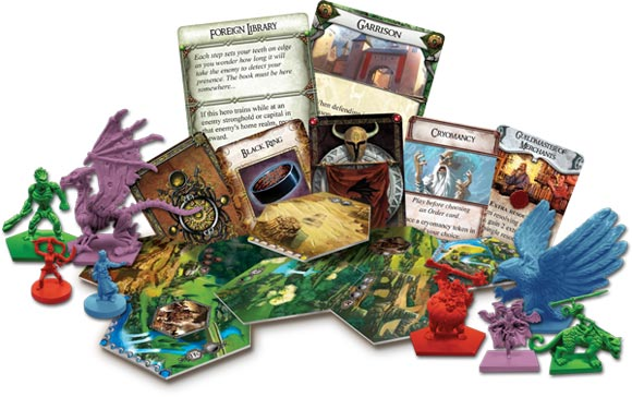Runewars: Banners of War expansion components