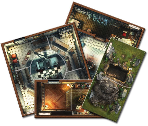 Mansions of Madness: Forbidden Alchemy boards
