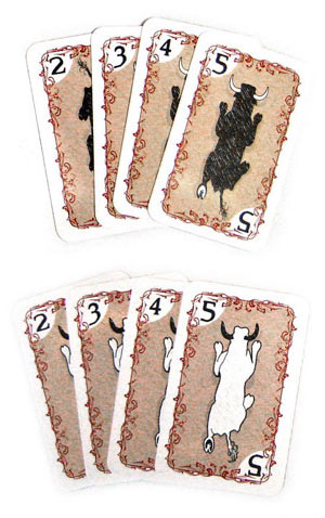 Pamplona bull and ox movement cards
