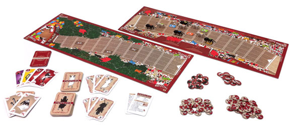 Pamplona board game components