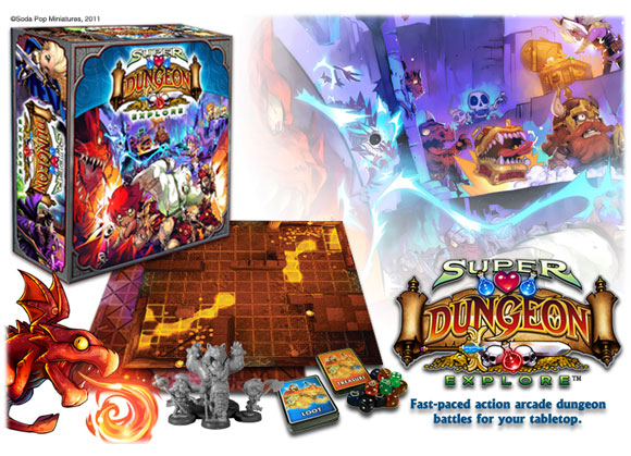 Super Dungeon Explore box and contents
