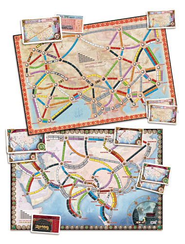Ticket To Ride Asia Map.Ticket To Ride Asia