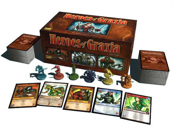 Heroes of Graxia box and contents