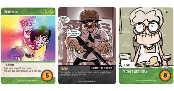 Penny Arcade: The Game, Rumble in R'lyeh card samples