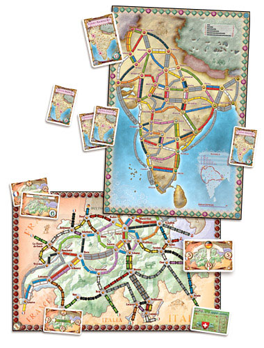 Ticket to Ride India expansion boards