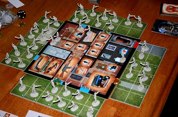 Zombie Survival: The board game in play
