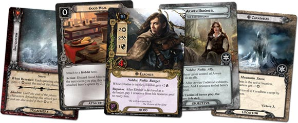 LOTR LCG The Redhorn Gate expansion card samples