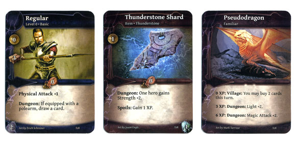 Thunderstone Advance new regular shard and familiar cards