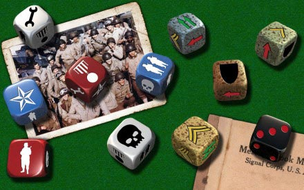 D-Day Dice components sample