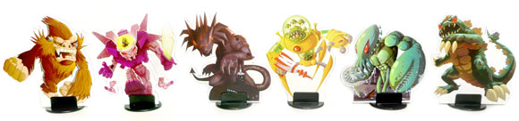 King of Tokyo monster stand-ups