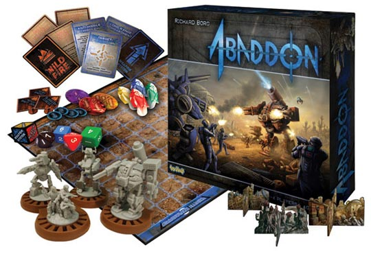 Abaddon board game components