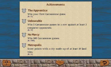 Carcassonne for android achievements