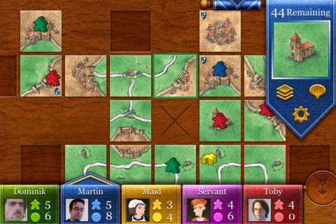 Carcassonne iOS gameplay