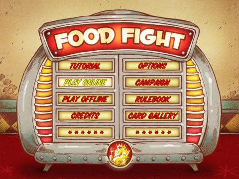 Food Fight home screen
