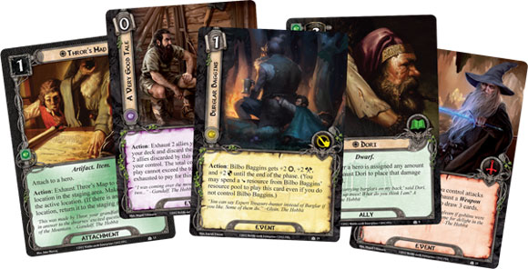 LOTR LCG Hobbit Saga Expansion cards 1