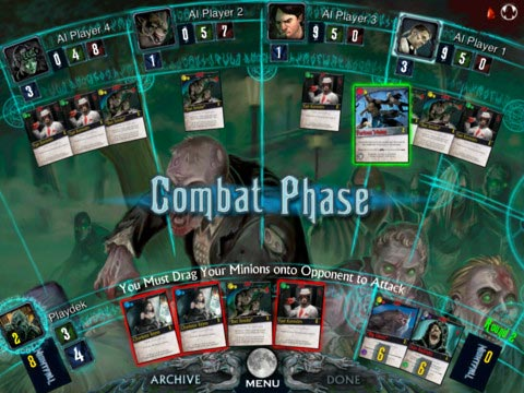 Nightfall digital board game combat phase