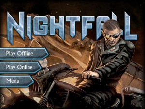 Nightfall digital board game home screen