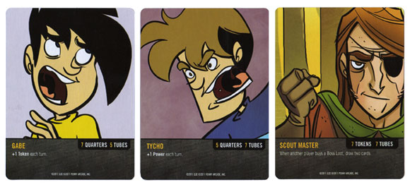 Penny Arcade: The Game, Gamers vs Evil character cards