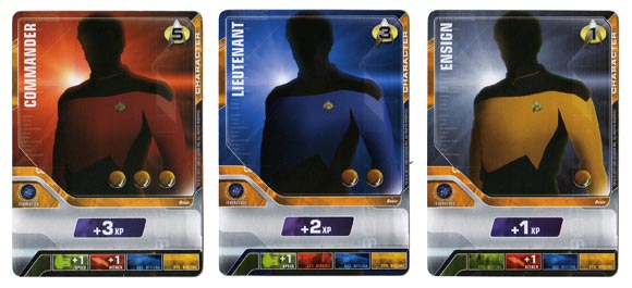Star Trek Deck Building Game commander, lieutenant, ensign cards