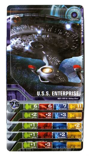 Star Trek Deck Building Game U.S.S Enterprise cards