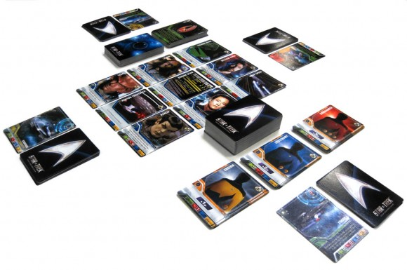 Star Trek Deck Building Game: The Next Generation in play