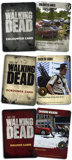 The Walking Dead Board Game cards