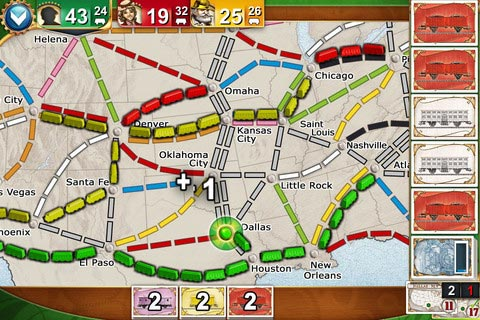 Ticket to Ride Pocket gameplay