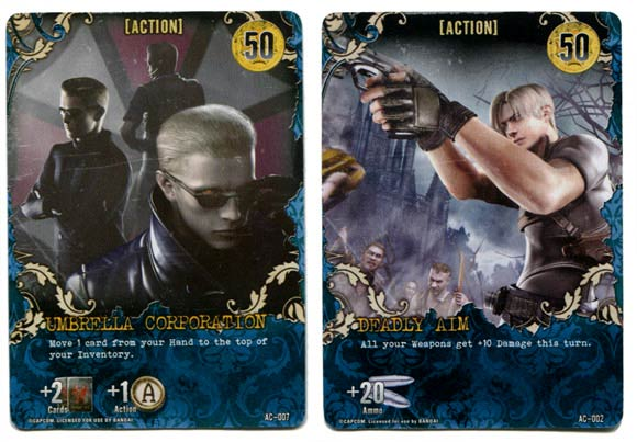 Resident Evil Deck Building Game action cards